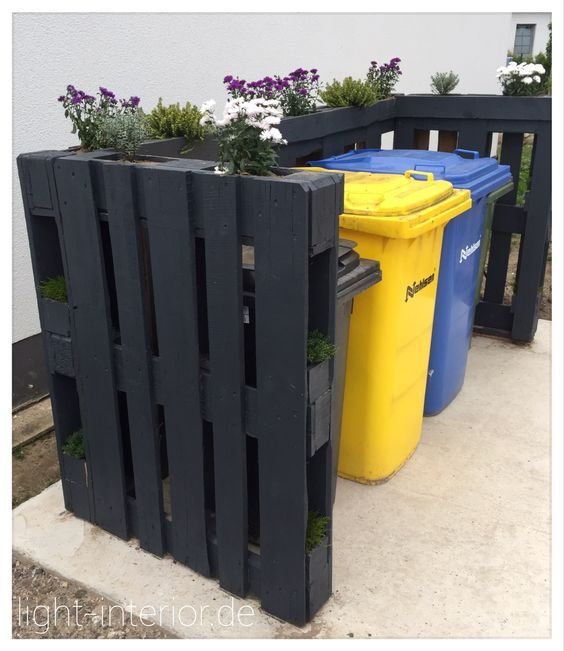 Giardino Cosa Piantare A Febbraio: Mülltonnenverkleidung Mit Paletten