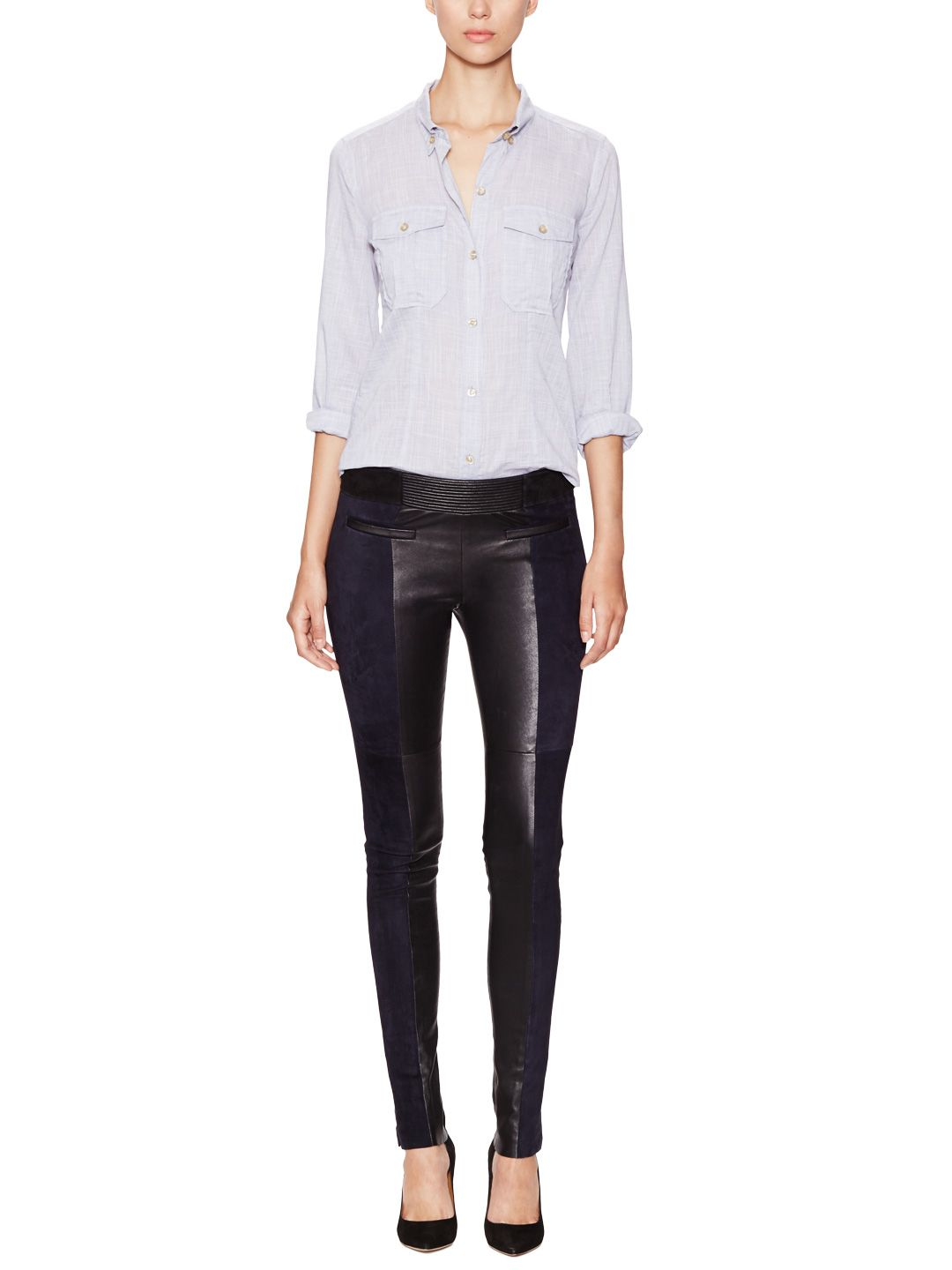 26be39530dd9e3 Idris Suede and Leather Pant by Isabel Marant at Gilt | Boheme ...