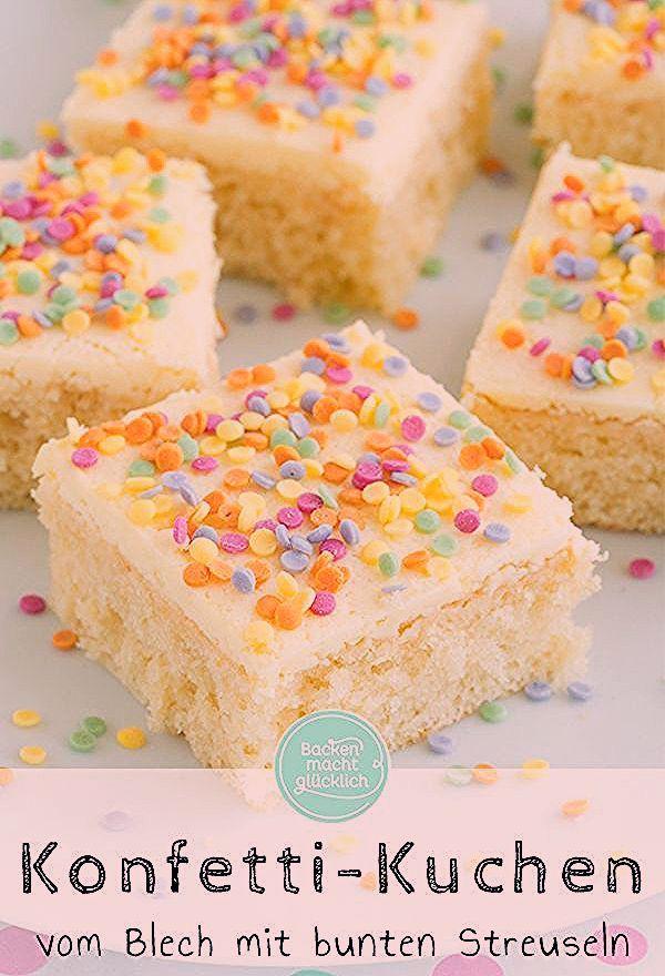 Photo of Konfetti-Kuchen vom Blech | Backen macht glücklich
