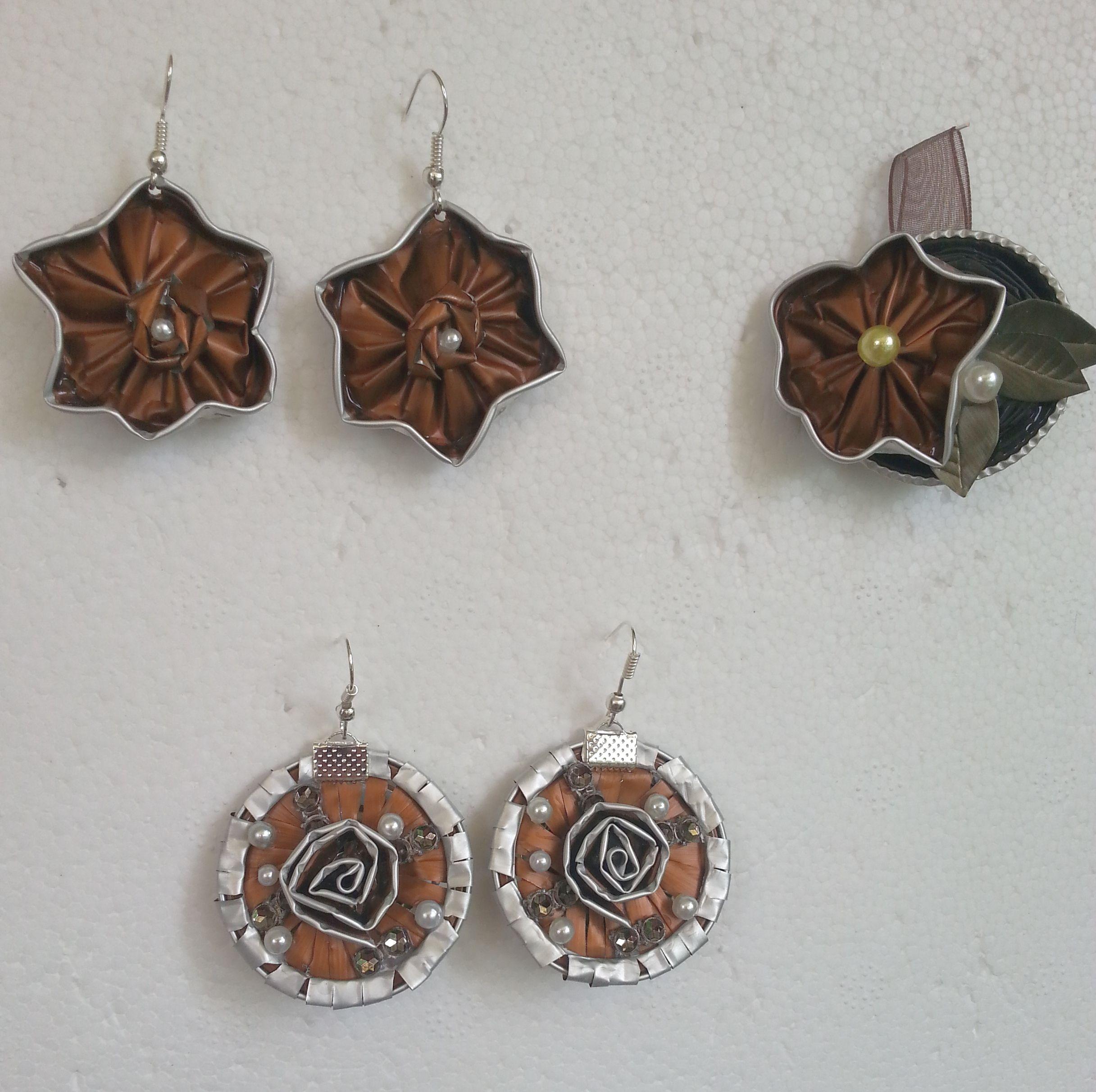 Molto Le tonalità del bronzo - orecchini e ciondolo fatti con capsule  UC06