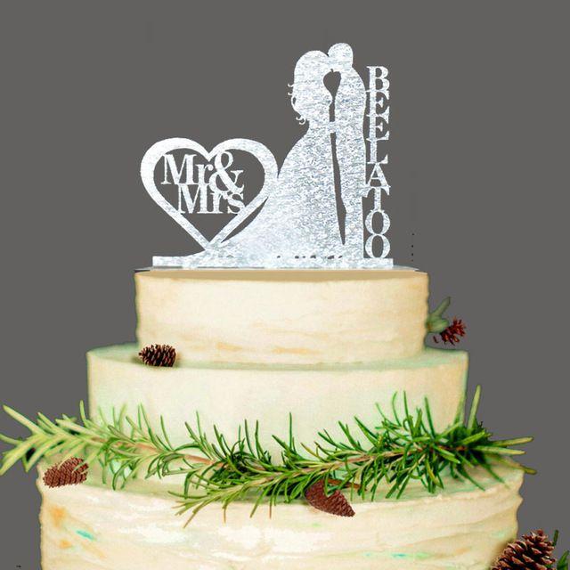 Joyeux Anniversaire Noir Pailleté Personnalisé Nom cake topper