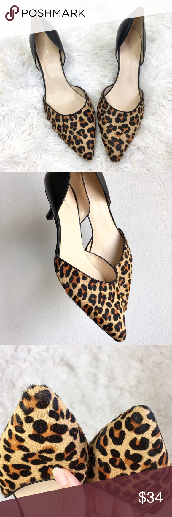 932097eb8f9f Nine West D'orsay Leopard Print Kitten Heels Nine West D'orsay Leopard  Print Kitten Heels Size 10 Great pre-owned condition There is some slight  wear (see ...