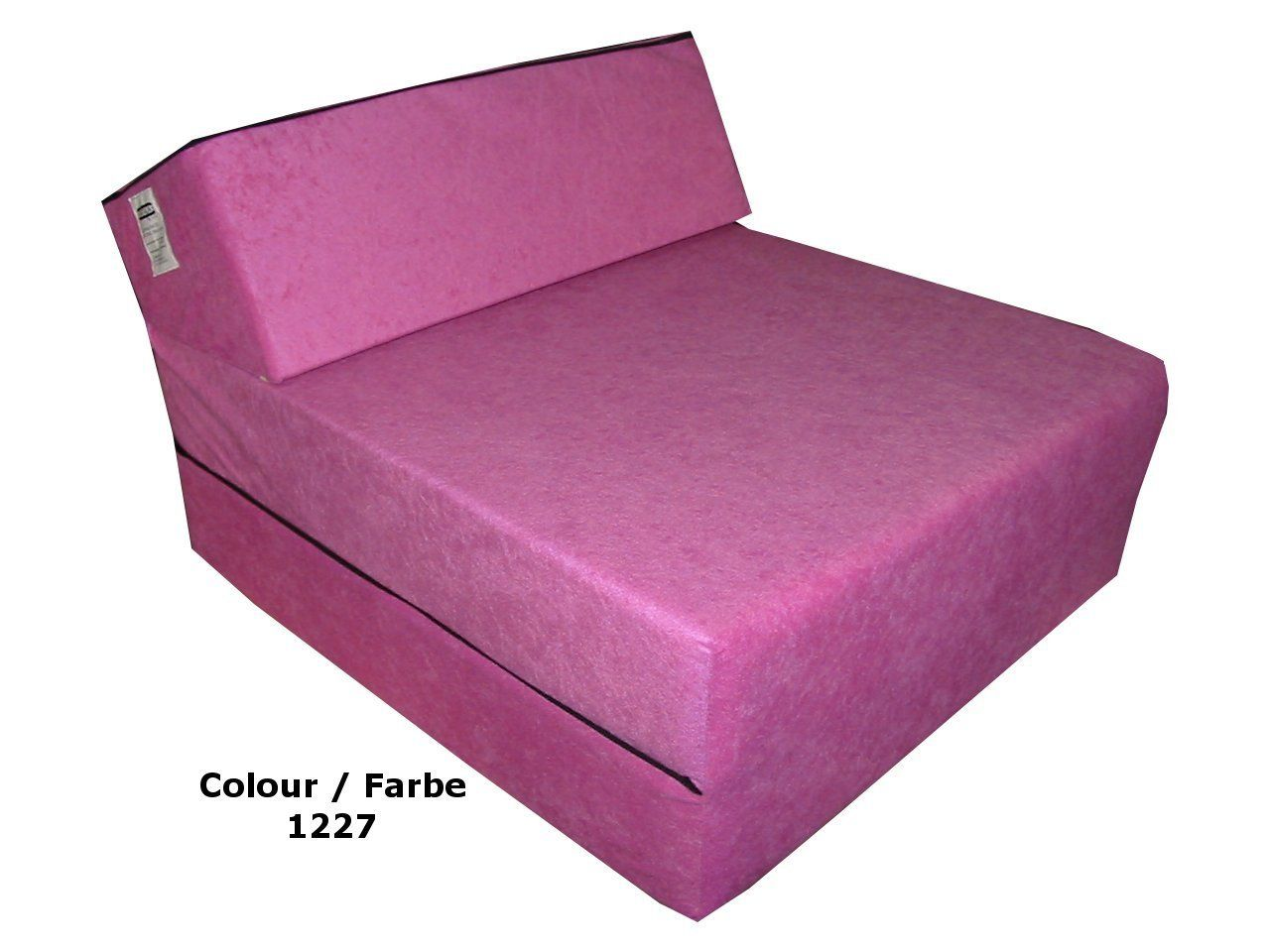Childrens Agers Fold Out Z Bed Chair Futon Folding Mattress Pink