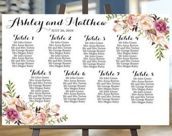 wedding guest list and seating pdf