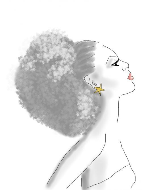 Natural hair art. BAREINDULGENCE.NET