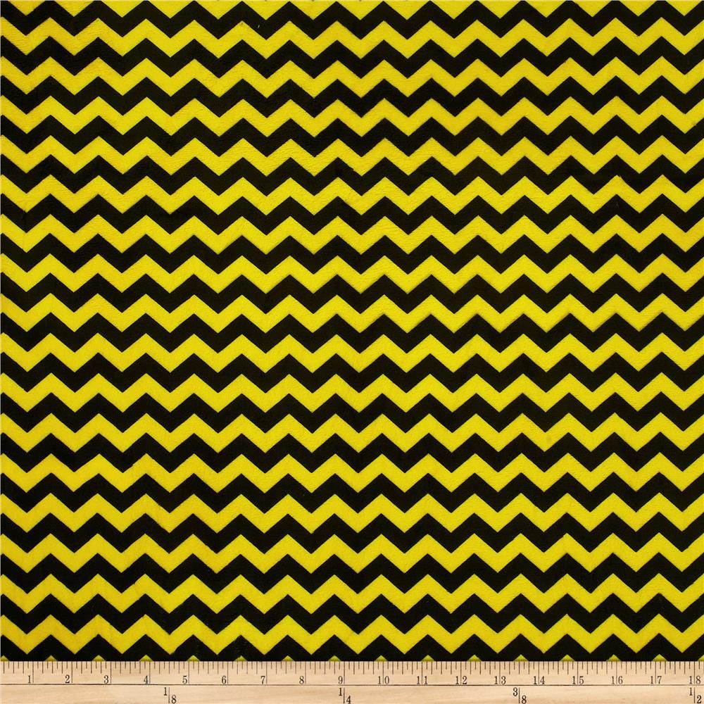 Minky Mini Chevron Bright Yellow/Black (bee pants!) | Kaya\'s ...