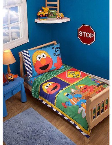 elmo sesame street toddler | bed room kids sesame street themes