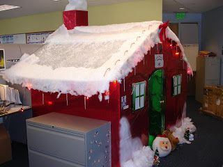 christmas cube want to do this someone at work cubicle decorationschristmas decorating ideasoffice also creative office - Christmas Decorations For Work