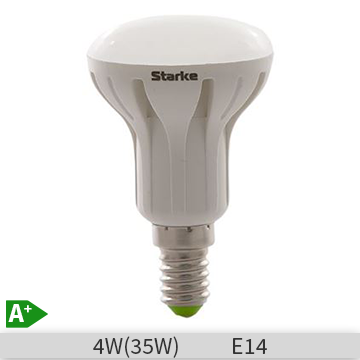 Bec LED reflector STARKE 4W, R50, E14, 30000 ore, lumina calda