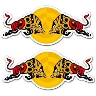 Red Bull Racing Team Art Car Bumper Sticker Decal Set of 2