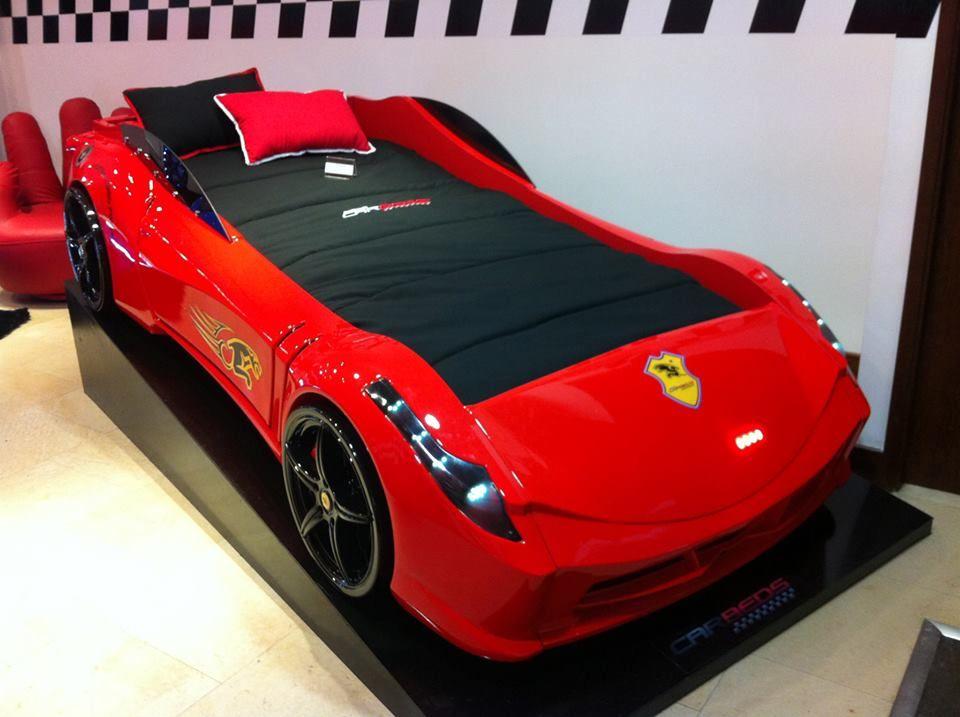 Ferrari car bed - cool kids bed design.