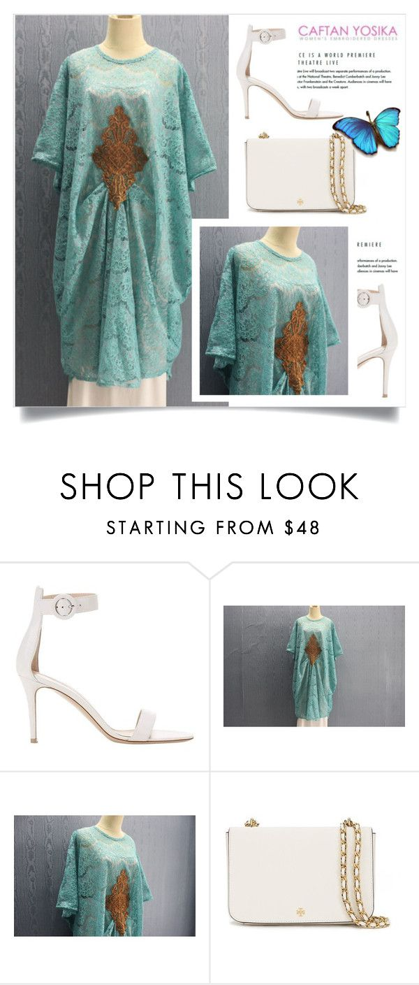 """""""Caftan Yosika 29"""" by amra-mak ❤ liked on Polyvore featuring Gianvito Rossi, Tory Burch and caftanyosika"""