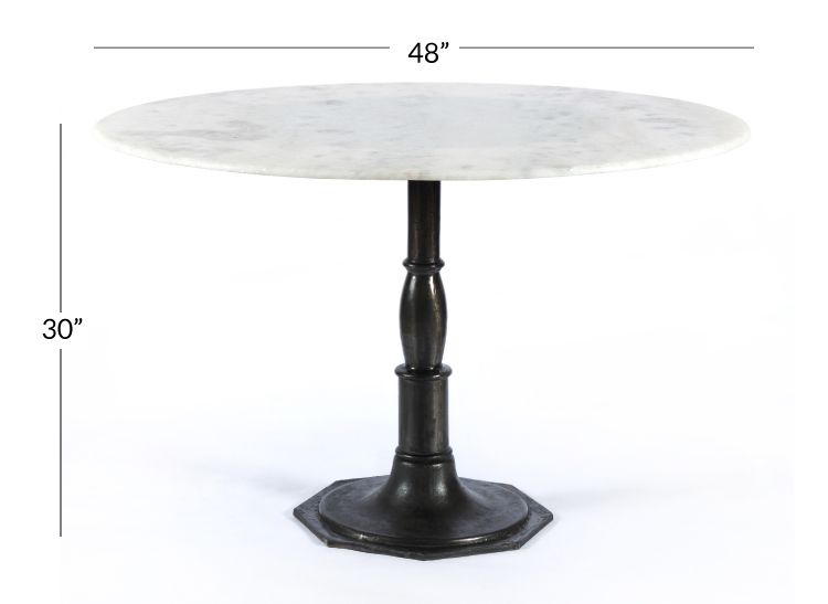 Rae Round Pedestal Dining Table Marble Bistro Table Dining
