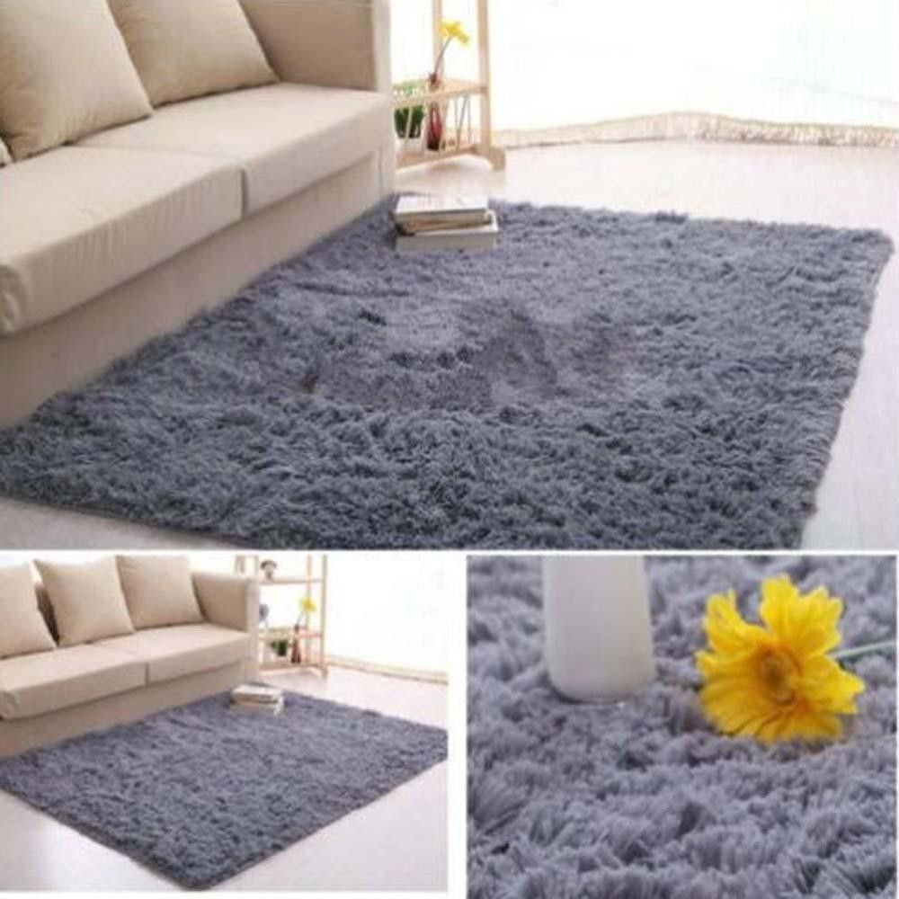 Fluffy Rugs Anti Skiding Shaggy Area Rug Dining Room Carpet Floor Mats  Shaggy Rugs Shag Rugs