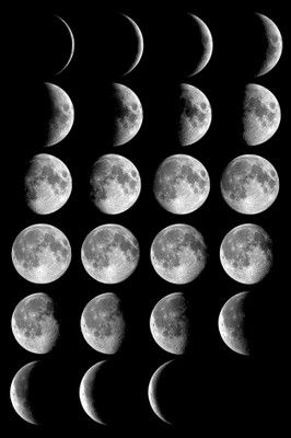 The Day Before The New Moon Bottom Right Is Called The Dark Moon
