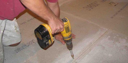 Installing Tile Over A Wood Subfloor Drywall Screws Plywood