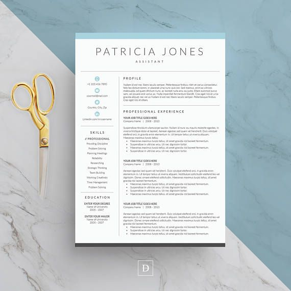 Clean And Modern Resume Template Word