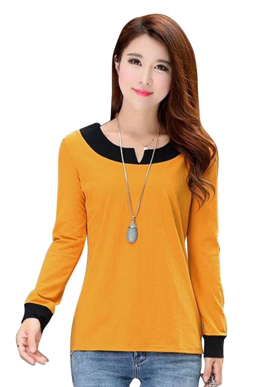 156c7031643 Western Tops, Western Wear For Women, Yellow T Shirt, Yellow Top, Iron