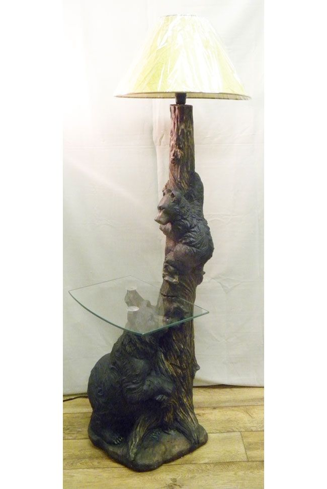 Black Bear Floor Lamp And Table For $249.99
