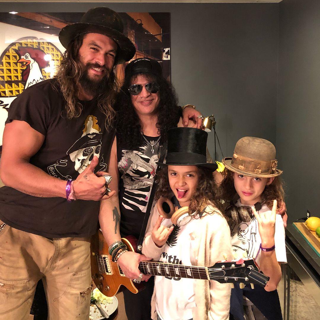 Gary Momoa: Jason Momoa & Kids With Slash
