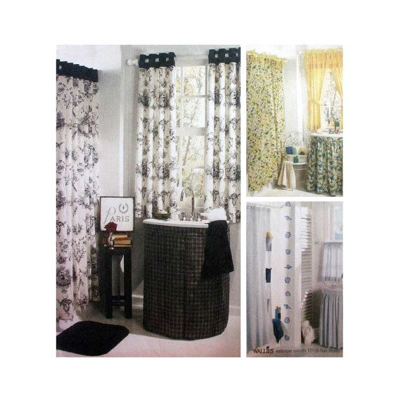 Bathroom Essentials Window Treatment Shower Curtains Sink Skirts