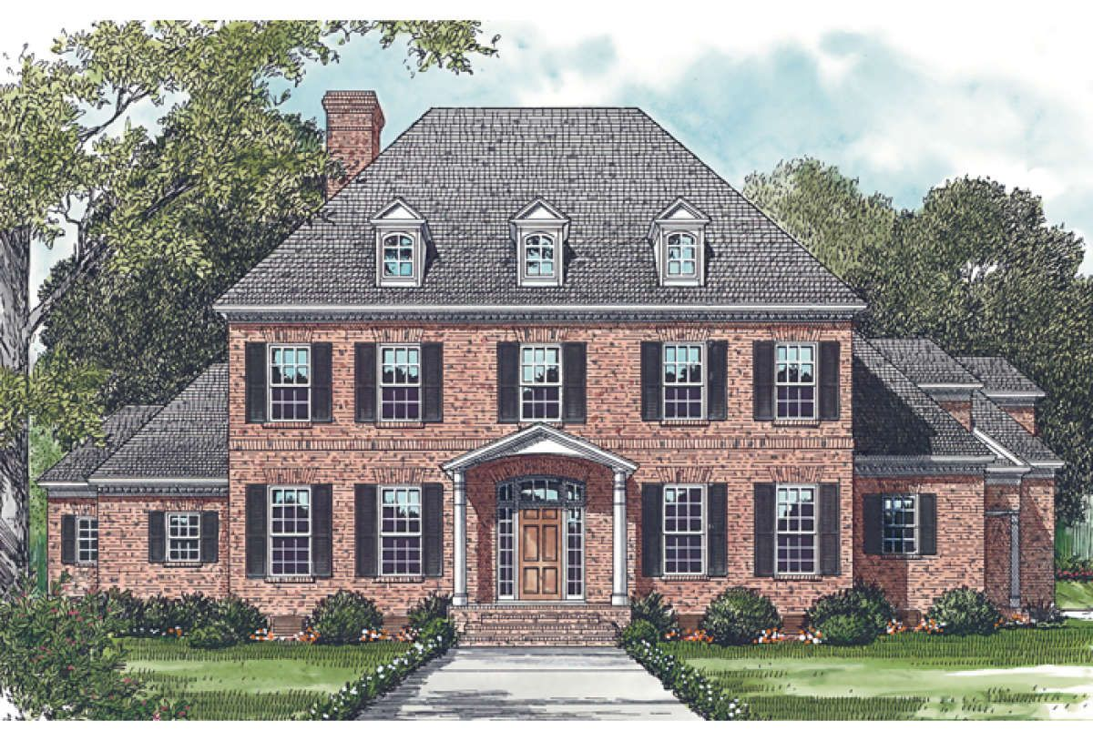 House Plan 3323 00501 Colonial Plan 5 199 Square Feet 5 Bedrooms 5 5 Bathrooms Colonial House Plans Colonial House Colonial House Exteriors