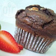 American-style Jumbo Triple Chocolate Muffins