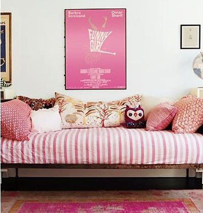 Quick Tip Use Striped Bedding To Define A Daybed Apartment Therapy Make Look More Like Couch