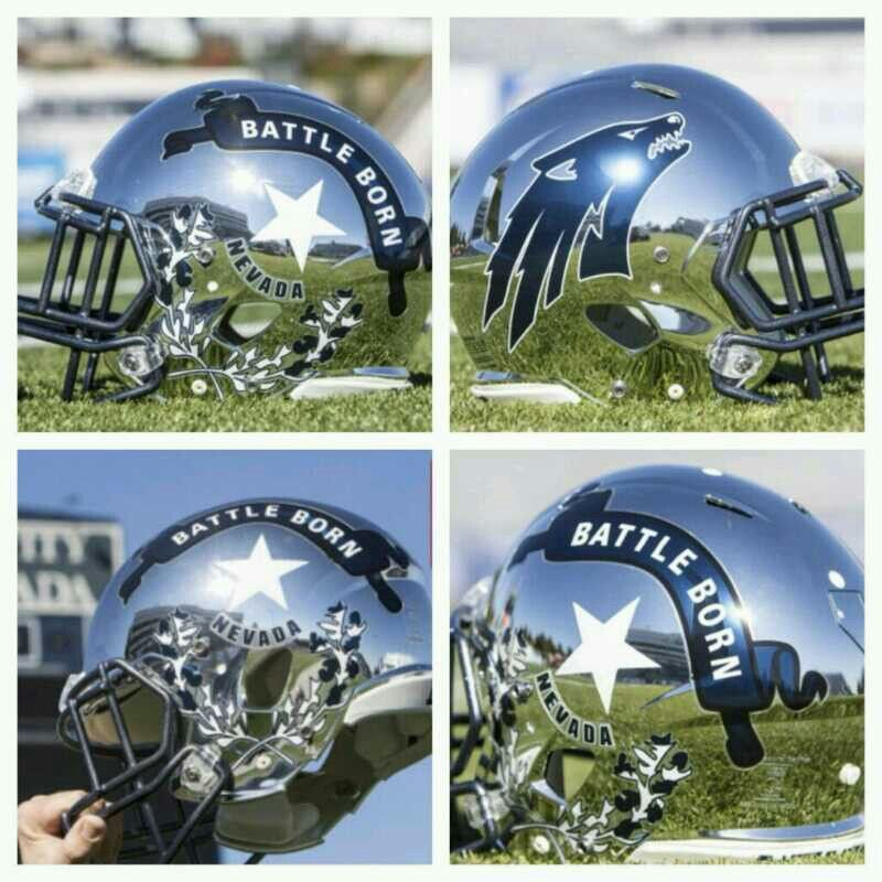 Nevada Wolfpack Football Helmets Wolfpack Football College Football Helmets