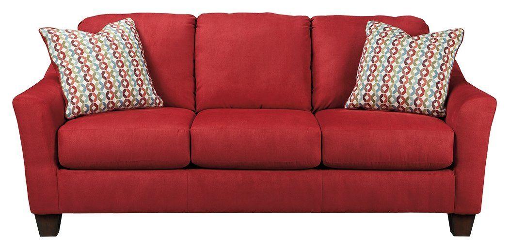 Ashley Furniture Signature Design Hannin Sofa Contemporary 3 Seat Couch Red Spice Wonderful Queen Sofa Sleeper Furniture Ashley Furniture Living Room