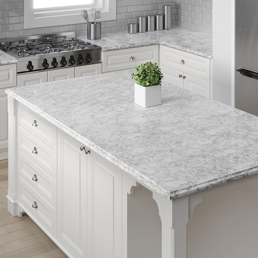 Allen Roth Oyster Cotton Quartz Kitchen Countertop Sample Lowes