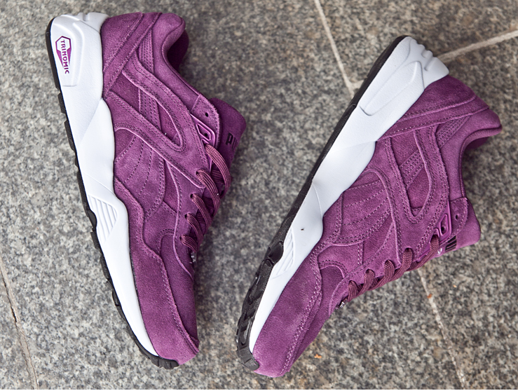 e523a955f9e PUMA R698 ALLOVER SUEDE PURPLE WHITE RETRO 359392 01