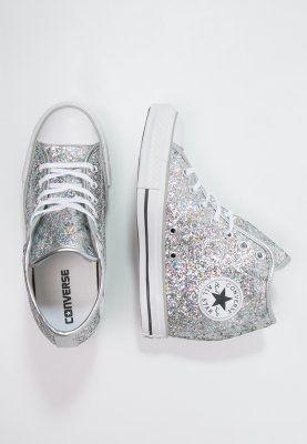 Converse CHUCK TAYLOR ALL STAR MID - Sneakers alte - silver/white/storm wind - Zalando.it