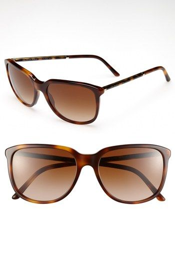 bfb1da767b81 Burberry Glam Tubular 57mm Sunglasses in Havana