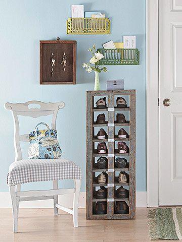 Smart Storage In Dazzling Displays Diy Shoe Storage Shoe Storage Solutions Home Decor