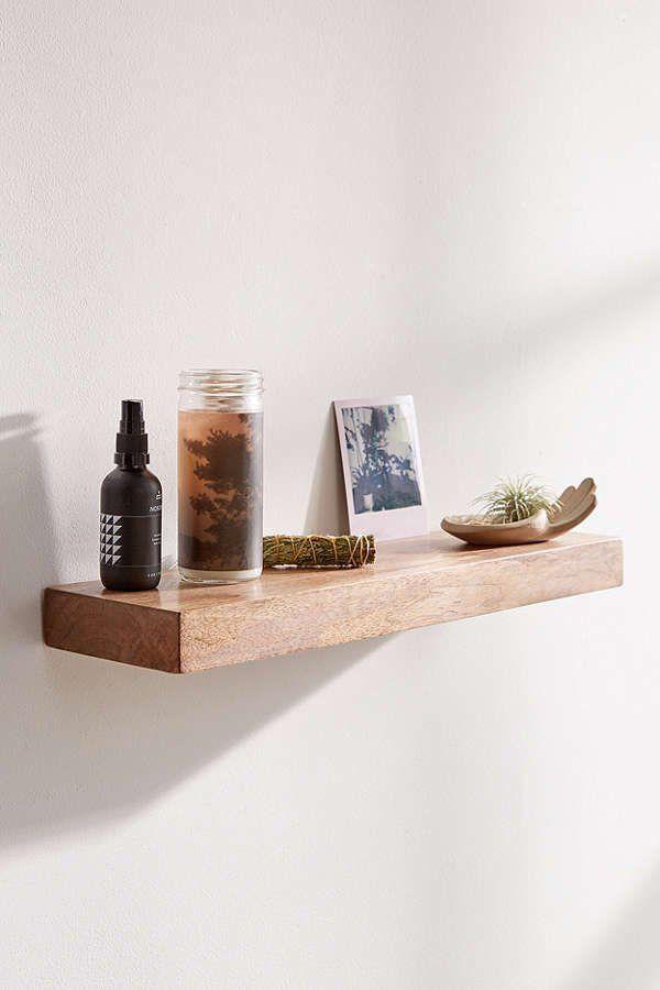 Simple Floating Wood Wall Shelf Floating Shelves Diy Floating