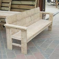 Afbeeldingsresultaat voor tuinbanken steigerhout