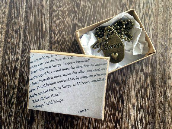 Always Necklace Professor Severus Snape Tears Necklace di Taypop
