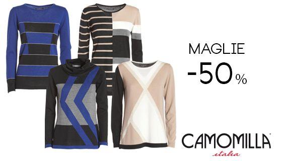 Maglia Camomilla sconto 50% #shopping #glamour #cclaromanina @camomillaitalia