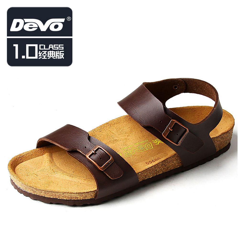 81fbf0927 Devo Male sandals fashion casual sandals Men slip-resistant sandals ...