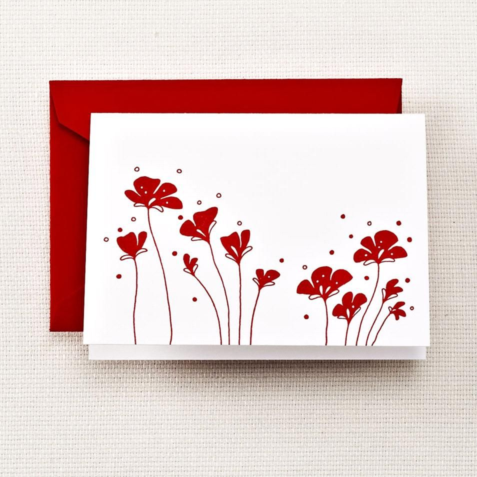 Letterpress Poppy Notes by @Jennifer Robbins & Co. | Poppies ...