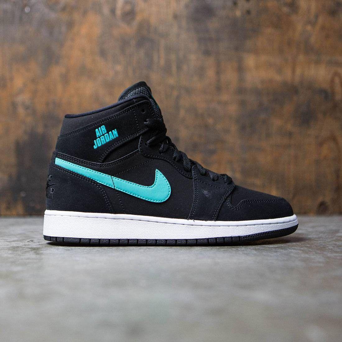 buy online 1ecb6 a77a8 Jordan Big Kids Air Jordan 1 Retro High (GS) (black / hyper jade-white)