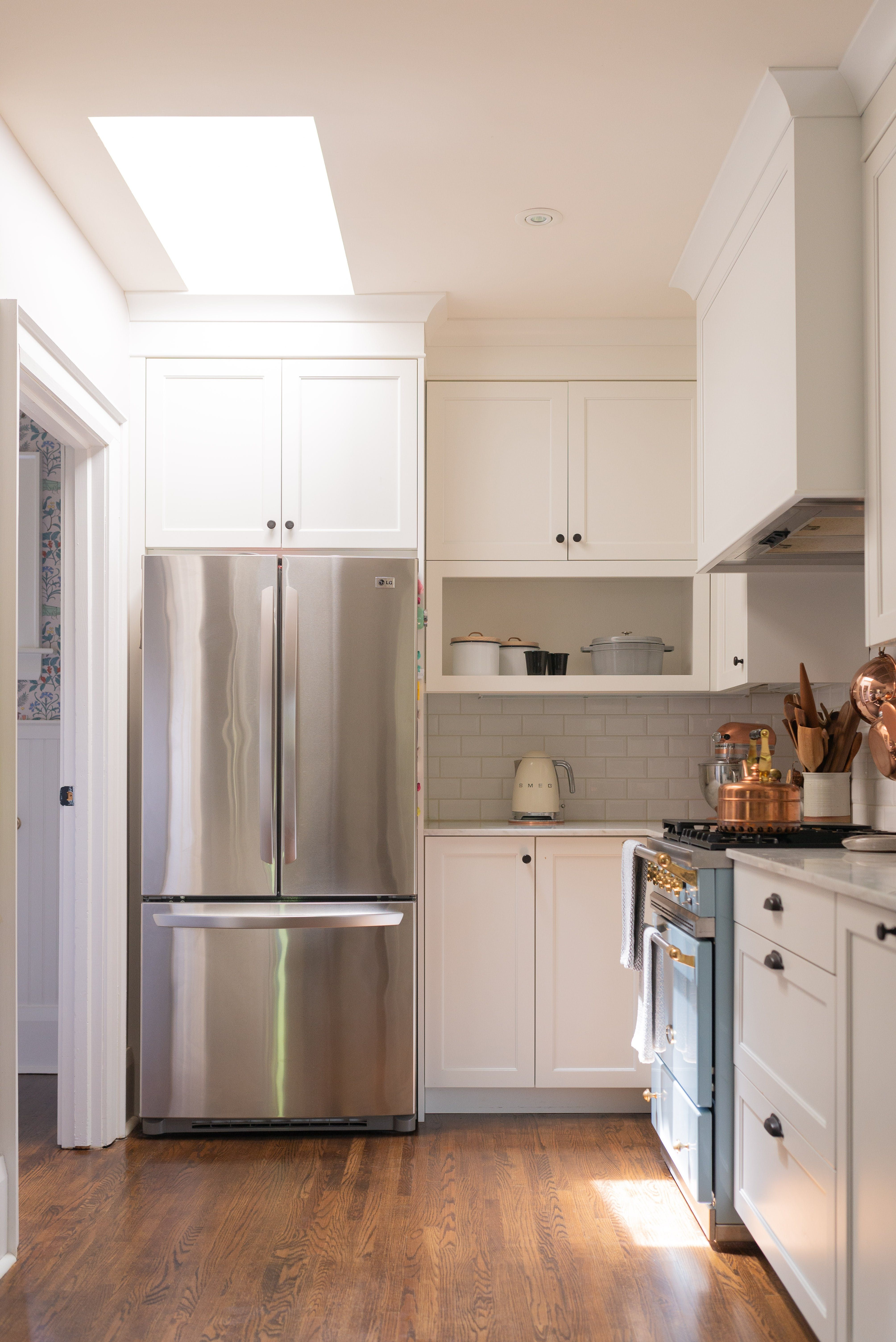 A Food Blogger S Ontario Home Is Minimal Monochromatic And Marvelous Kitchen Soffit Above Kitchen Cabinets Cheap Kitchen Remodel