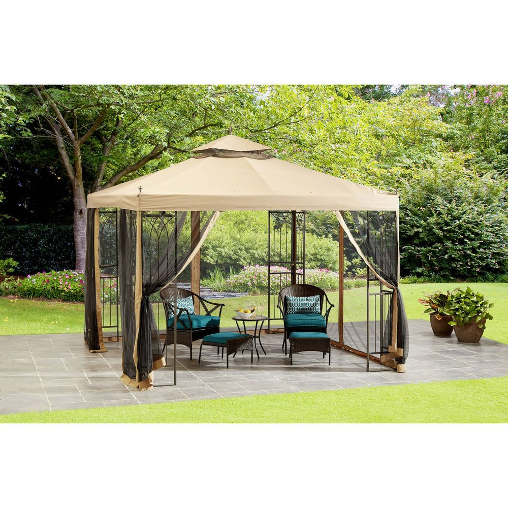 Outdoor Patio Gazebo Canopy 10 X Shade Tent With Stakes