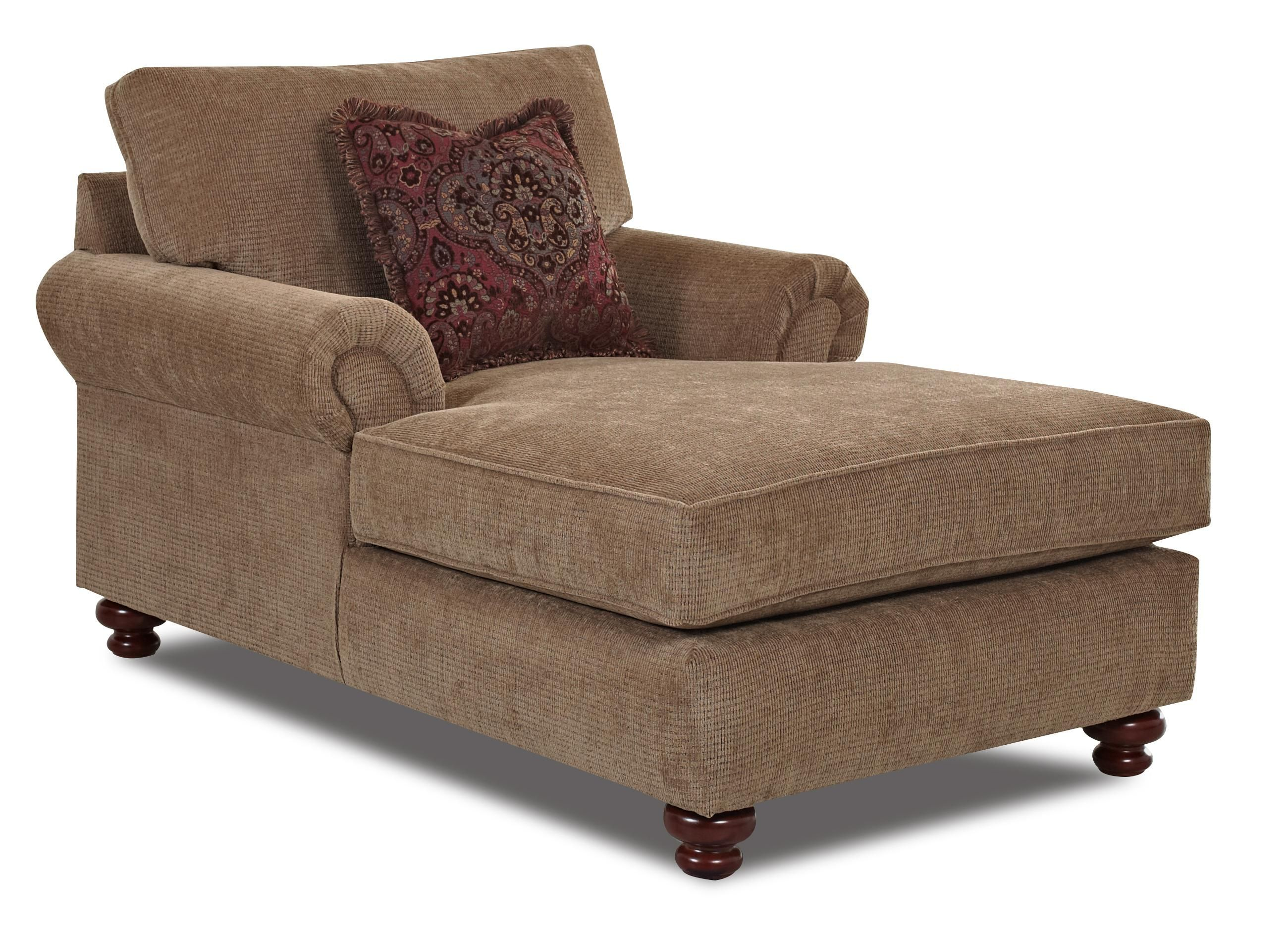 Greenvale Traditional Chaise Lounge By Klaussner Wolf Furniture