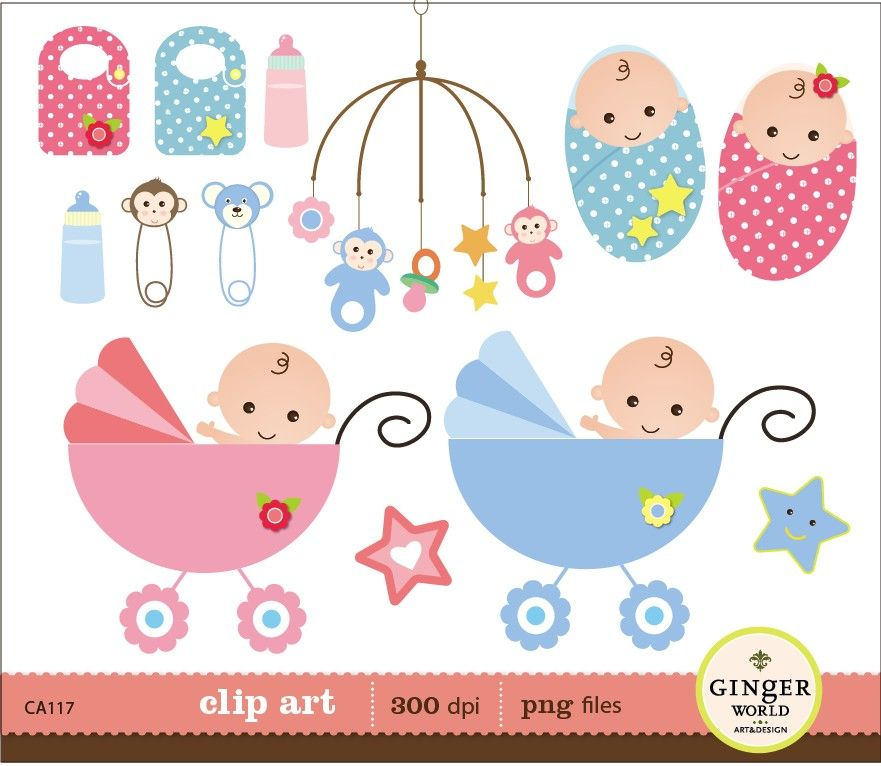 Baby Shower For Boy And Girl ~ Laminas para decoupage girls clips baby shower boys