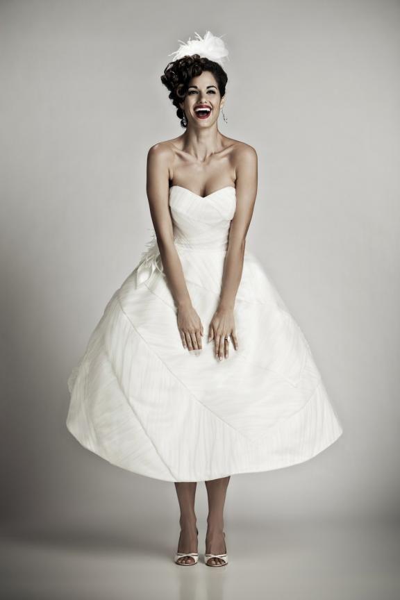 Ball Gown Strapless Sweetheart Tea Length Wedding Dress 3016 Where The Boys Are Love Neck And Full Skirt