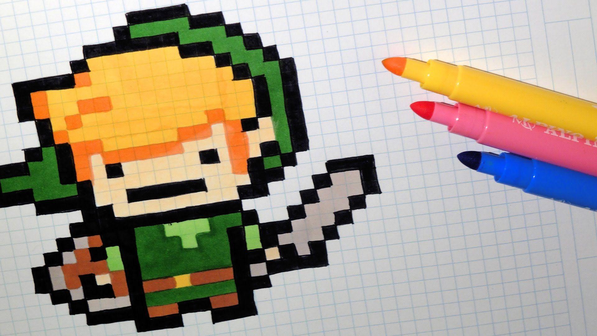 Handmade Pixel Art How To Draw Kawaii Link The Legend Of