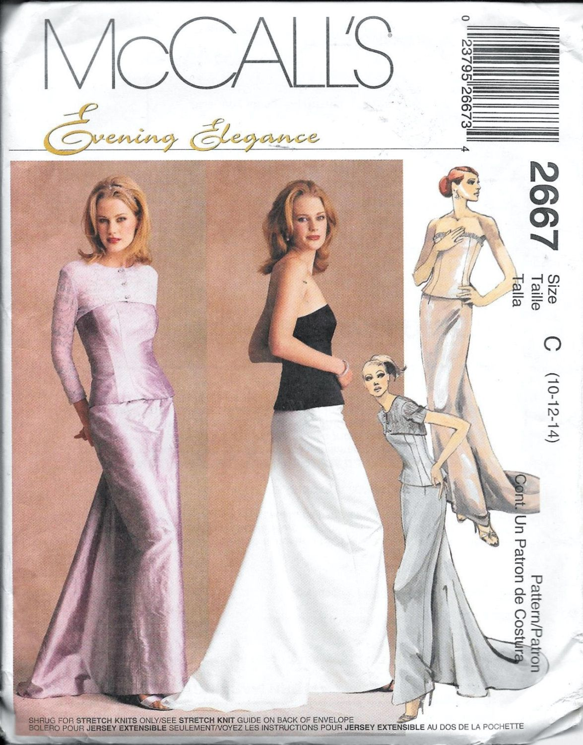 Mccalls 2667 evening gown shrug bustier skirt sewing pattern mccalls 2667 evening gown shrug bustier skirt sewing pattern uncut prom dress size 10 12 jeuxipadfo Gallery
