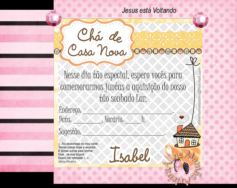 Convite Cha Casa Nova 4 Modelos De Convite V Torres Em 2019